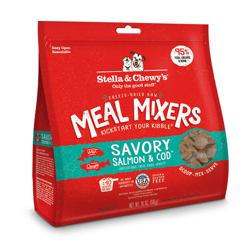 Stella & Chewy's Savory Salmon & Cod Freeze-Dried Dog Meal Mixer