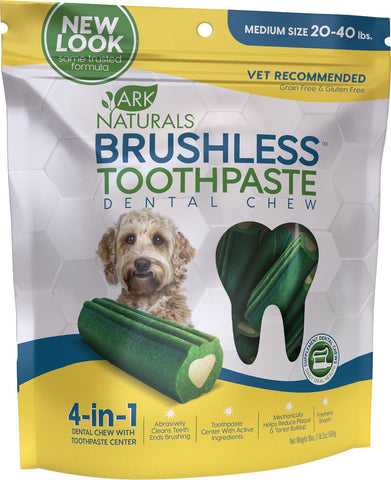 Ark Naturals Brushless Toothpaste Medium Dental Dog Chews