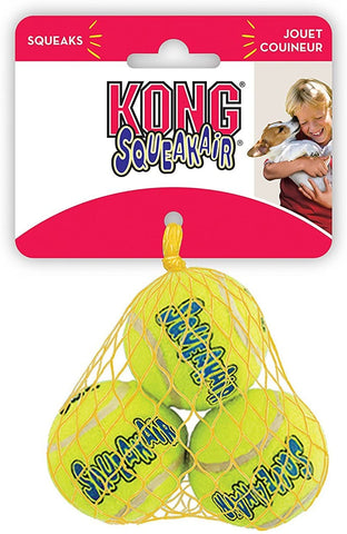 KONG Air Dog Squeakair Dog Toy Tennis Balls (Small)