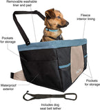 Kurgo Car Pet Booster Seat for Dogs or Cats | Front & Rear Dog Car Seat | Travel Carrier Carseat for Pets | Dog Seatbelt Tether | Helps with Canine Car Sickness