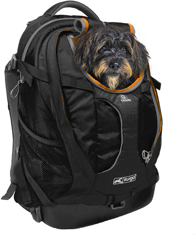 Kurgo Dog Carrier Backpack for Small Pets - Dogs & Cats | TSA Airline Approved | Cat | Hiking or Travel | Waterproof Bottom