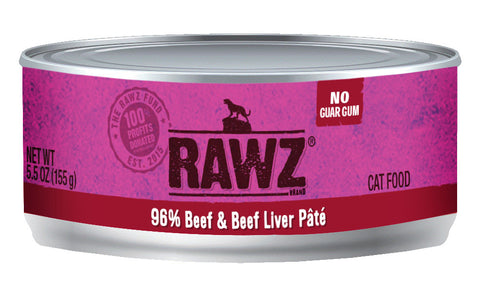 Rawz 96% Beef & Beef Liver Canned Cat 5.5oz