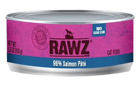Rawz 96% Salmon Pate Canned Food 5.5oz