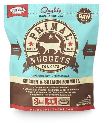 Primal Raw Frozen Feline Chicken & Salmon Formula