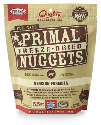 Primal Freeze-Dried Feline Venison Formula