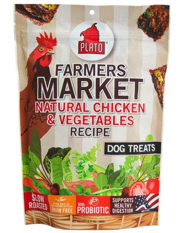 Plato Farmers Market Natural Chicken & Vegetables Dog Treats
