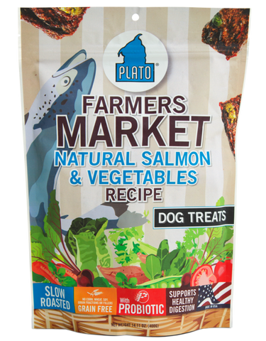 Plato Farmers Market Salmon & Vegetables Dog Treats