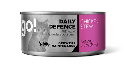 GO! DAILY DEFENCE™ Chicken Stew Canned Cat Food