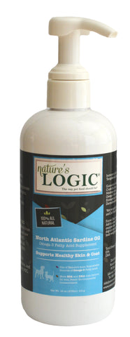 Nature's Logic Sardine Oil 16oz Dog Supplement
