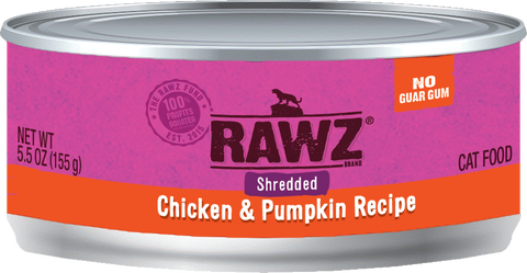 Rawz Shredded Chicken & Pumpkin Canned Food 5.5oz
