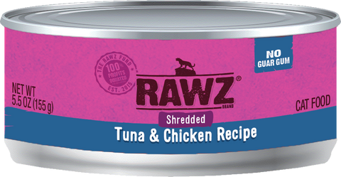Rawz Shredded Tuna & Chicken Canned Food 5.5oz