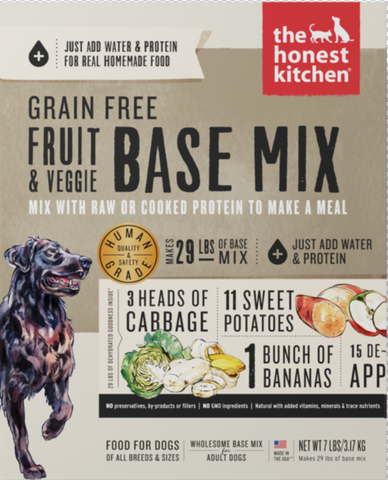 Grain Free Fruit & Veggie Base Mix Dehydrated Dog Food