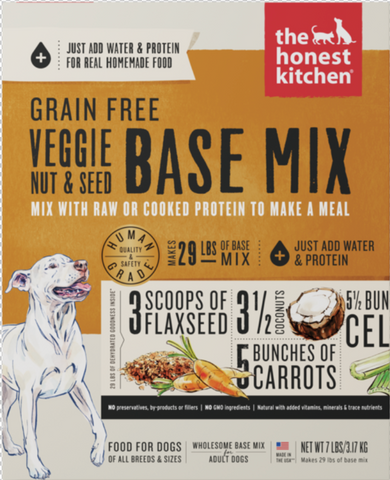 Grain Free Veggie, Nut & Seed Base Mix Dehydrated Dog Food