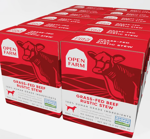 Open Farm Grass-Fed Beef Rustic Stew Wet Dog Food (Case of 12)