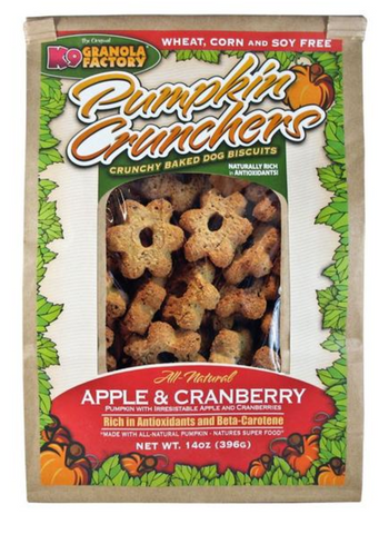 K9 Crunchers Pumpkin Apple & Cranberry Dog Treats