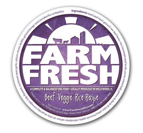 Farm Fresh Beef Veggie Rice Dog Food
