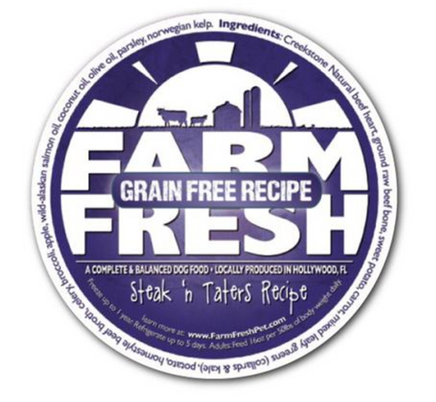 Farm Fresh Grain Free Steak n Taters Dog Food