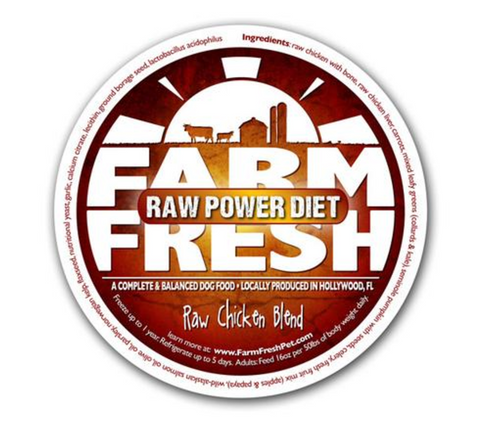 Farm Fresh Raw Chicken Dog Food