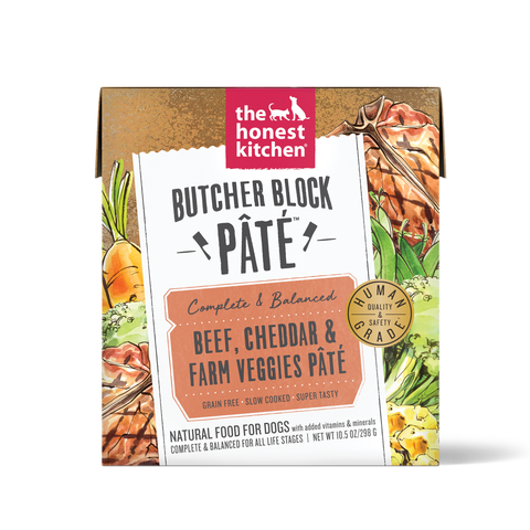 Butcher Block Pate Beef, Cheddar & Farm Veggies Pate 10.5 oz Carton