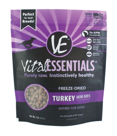 Vital Essentials Freeze-Dried Mini Turkey Nibs