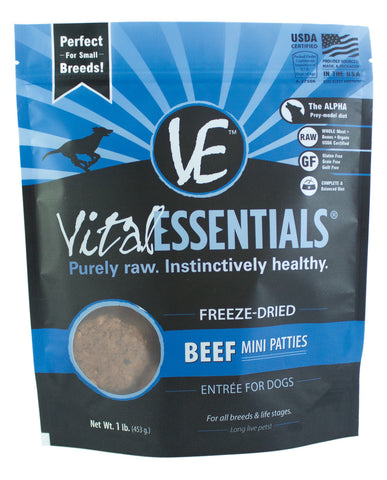 Vital Essentials Freeze-Dried Mini Beef Patties
