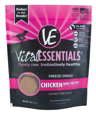 Vital Essentials Freeze-Dried Mini Chicken Patties