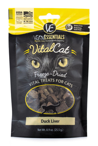 Vital Essentials Freeze-Dried Duck Liver Cat Treat