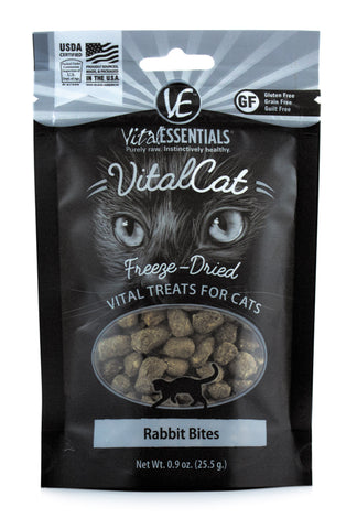 Vital Essentials Freeze-Dried Rabbit Bites Cat Treat