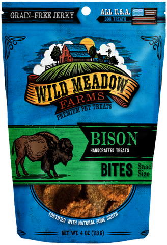 Wild Meadow Bites Bison Dog Treats