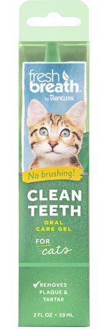 Fresh Breath by TropiClean No Brushing Clean Teeth Dental & Oral Care Gel forCats