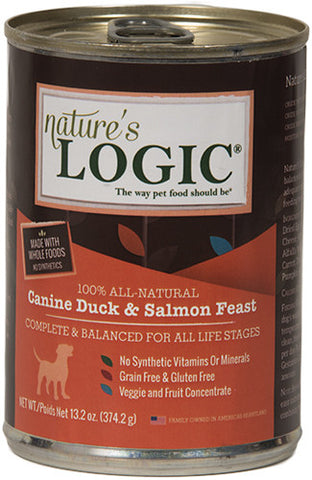 Nature's Logic Duck & Salmon Canned Dog Food