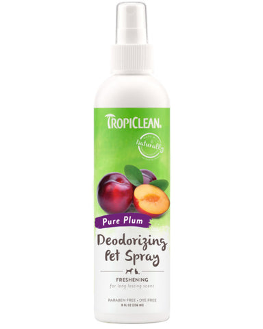 TropiClean Pure Plum Deodorizing Spray for Pets, 8oz