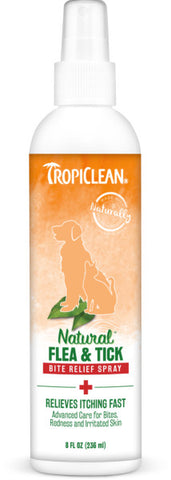 TropiClean Natural* Flea & Tick Bite Relief Spray for Pets