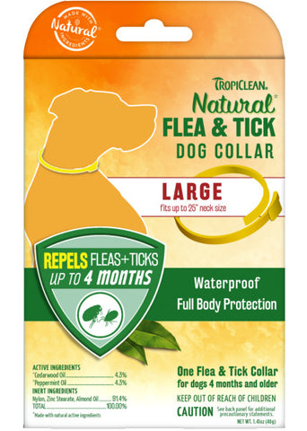 TropiClean Natural* Flea & Tick Repellent Collar for Large Dogs