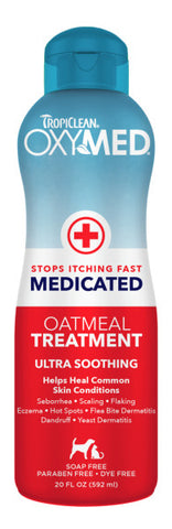 TropiClean OxyMed Medicated Anti Itch Conditioning Treatment for Pets, 20oz