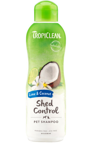TropiClean Lime & Coconut Shed Control Shampoo for Pets, 20oz
