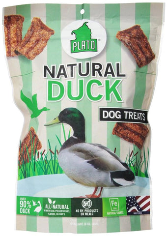 Plato Strips Natural Duck Dog Treats