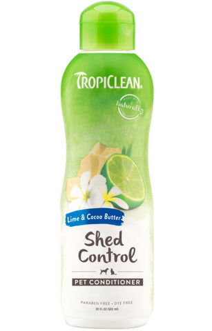 TropiClean Lime & Cocoa Butter Shed Control Conditioner for Pets, 20oz