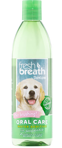 Fresh Breath by TropiClean Oral Care Water Additive for Puppies