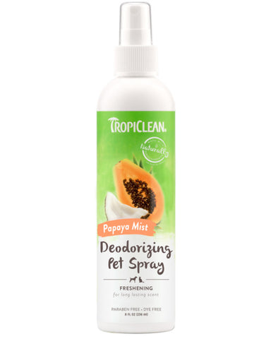 TropiClean Papaya Mist Deodorizing Spray for Pets, 8oz