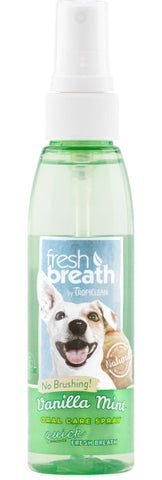 Fresh Breath by TropiClean Vanilla Mint Oral Care Spray for Dogs