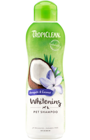 TropiClean Awapuhi & Coconut Whitening Shampoo for Pets, 20oz