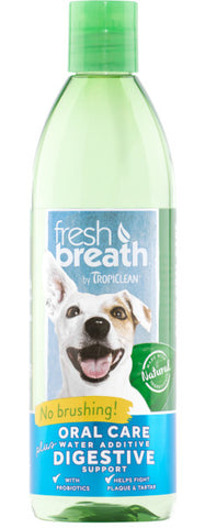 Fresh Breath by TropiClean Oral Care Water Additive Plus Digestive Support for Pets