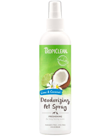 TropiClean Lime & Coconut Deodorizing Spray for Pets, 8oz