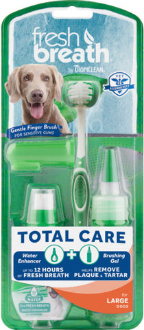Fresh Breath by TropiClean Total Care Kit for Large Dogs