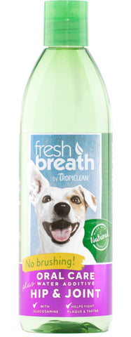 Fresh Breath by TropiClean Oral Care Water Additive Plus Hip & Joint for Pets