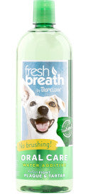 Fresh Breath by TropiClean Oral Care Water Additive for Pets