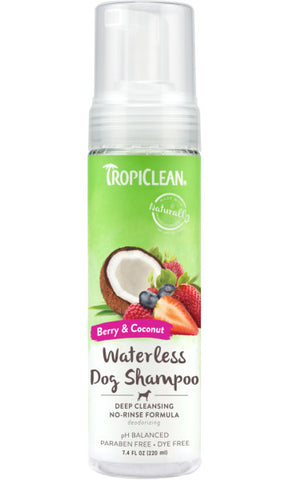 TropiClean Deep Cleansing Waterless Shampoo for Dogs, 7.4oz