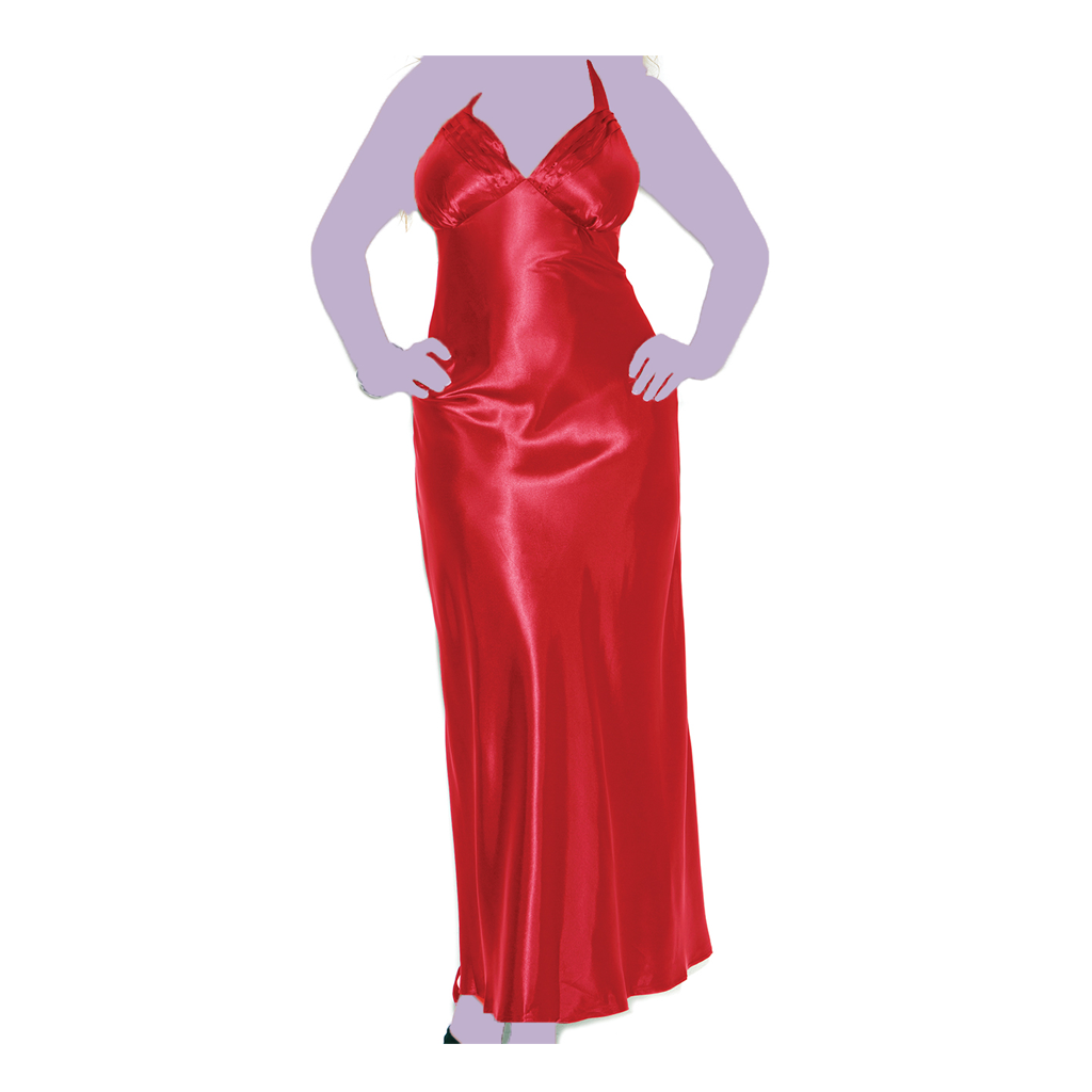Long Charmeuse Satin Gown