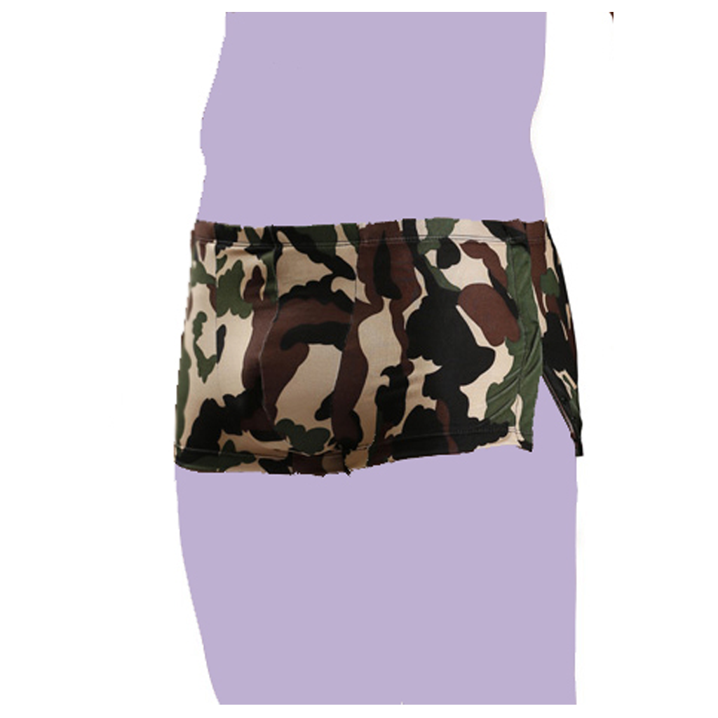 Camo Print Brief Shorts